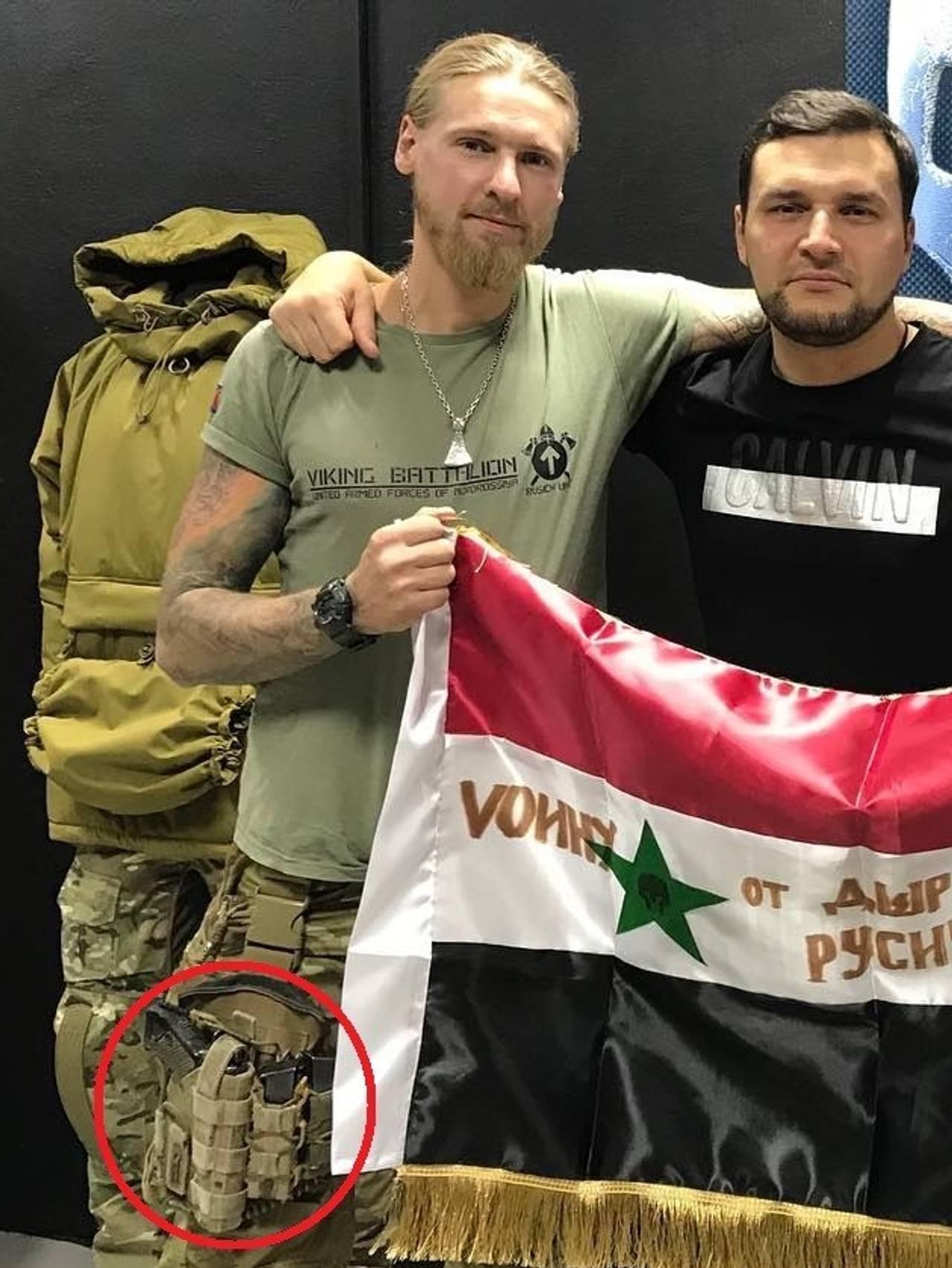 Våpen på høyre ben
