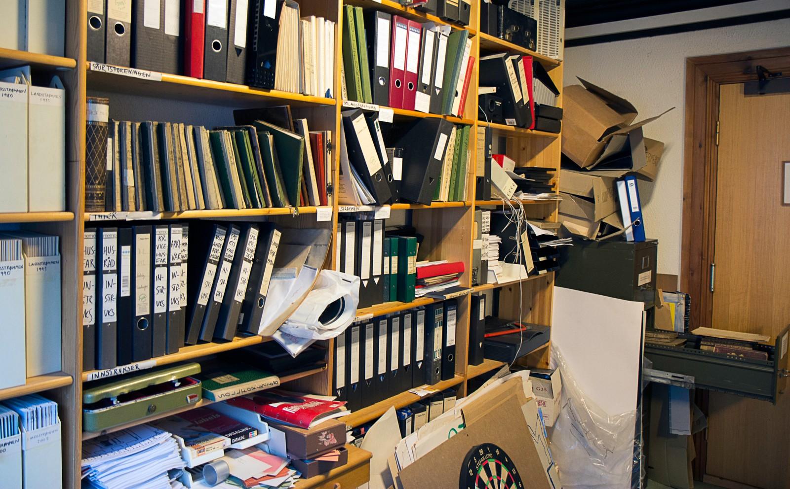Studenterhjemmet har et eget arkiv i fjerde etasje. Her arkiveres for eksempel alle spillomganger av husets kortspill.