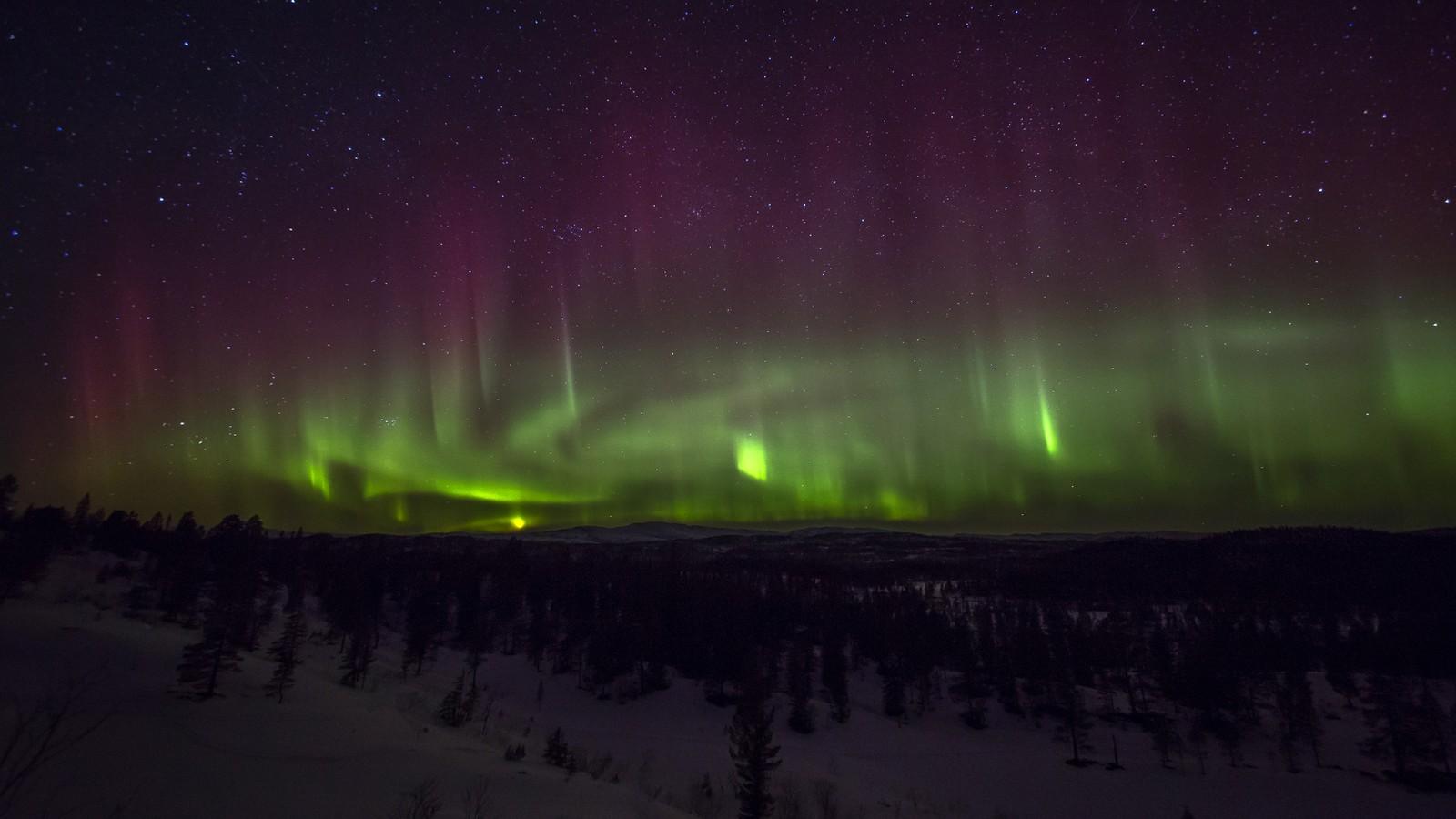 Nordlys i Skjækra natt til 15. mars 2015