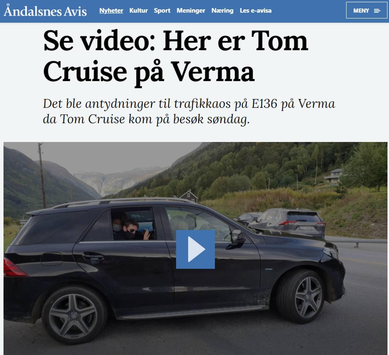 Tom Cruise på Verma