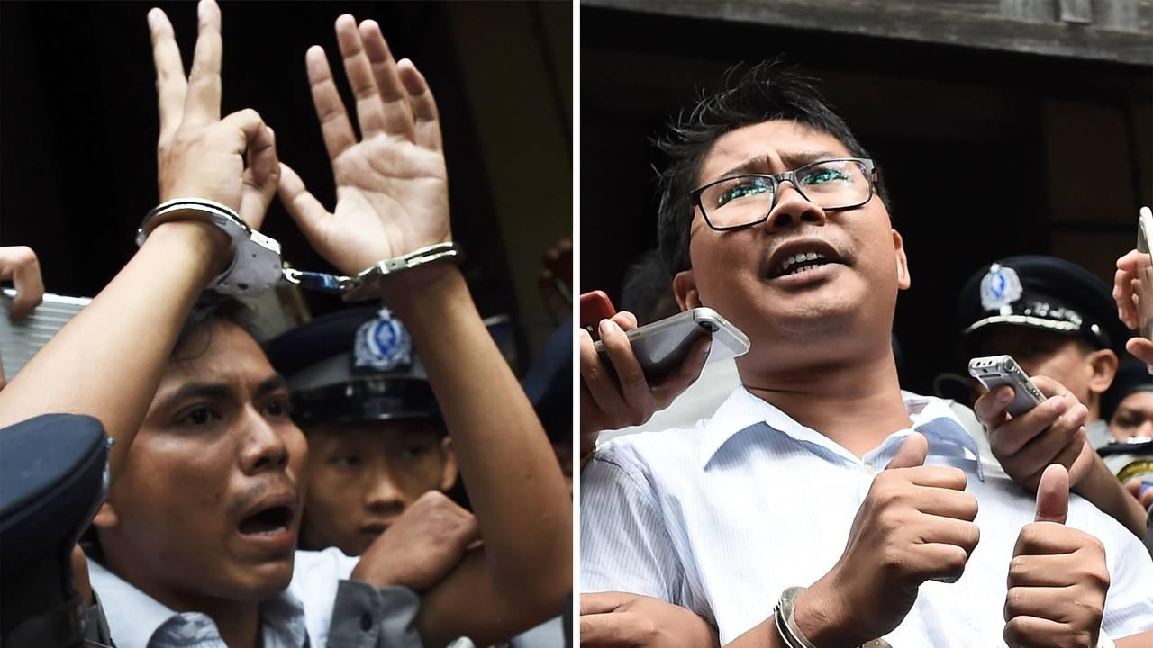 Journalister fra Reuters Kyaw Soe Oo og Wa Lone