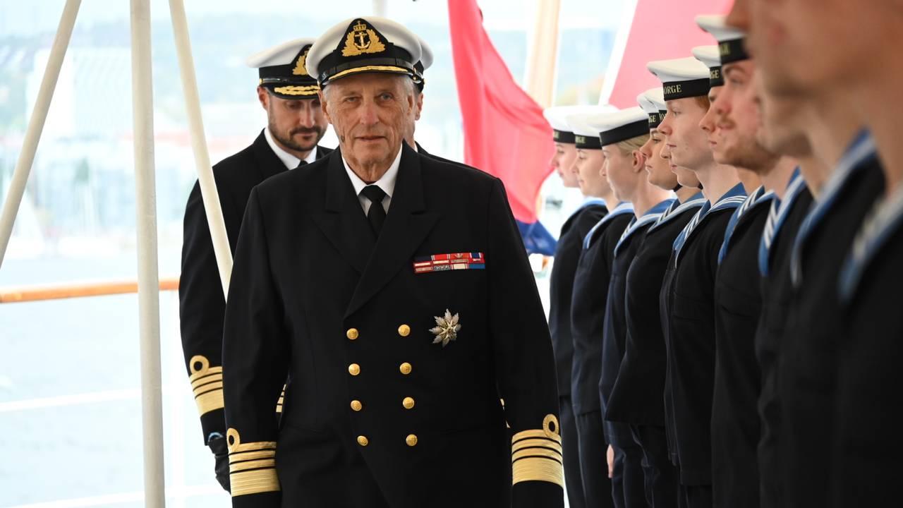 Kong Harald debarkerer Kongeskipet torsdag 24. september 2020