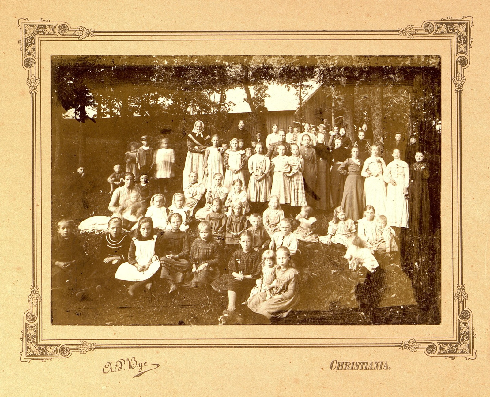 Tekst bak på bildet: Anna Olsen, Agnes.