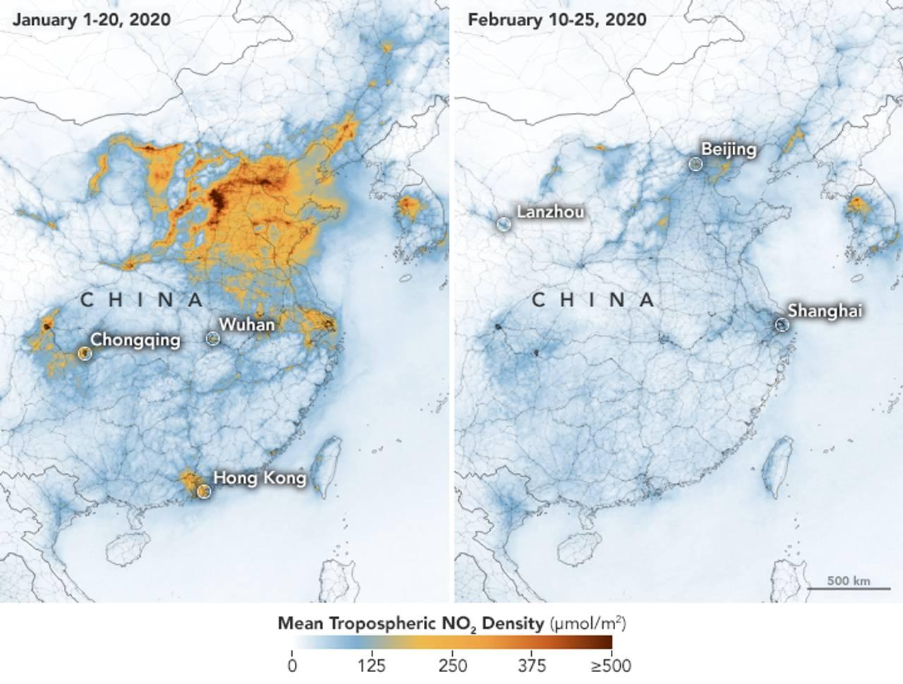 Luftkvaliteten over Kina