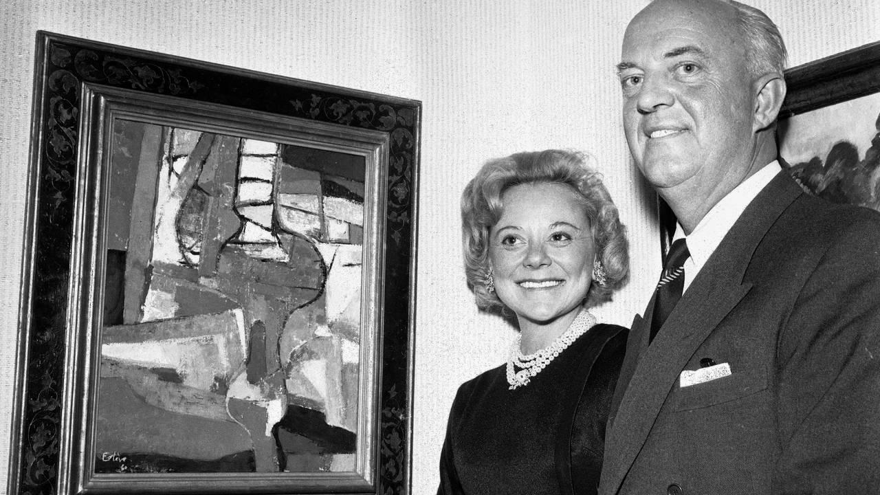 Sonja Henie og Niels Onstad, 1961.