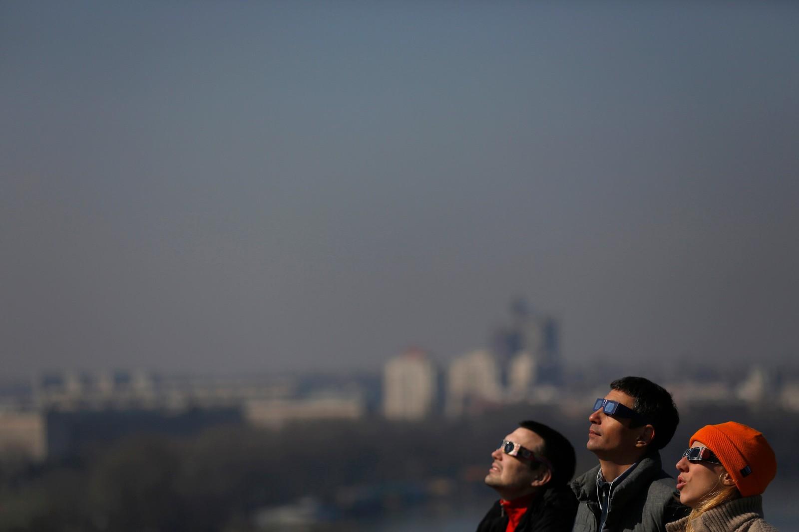 Solformørkelse over Beograd, Serbia.