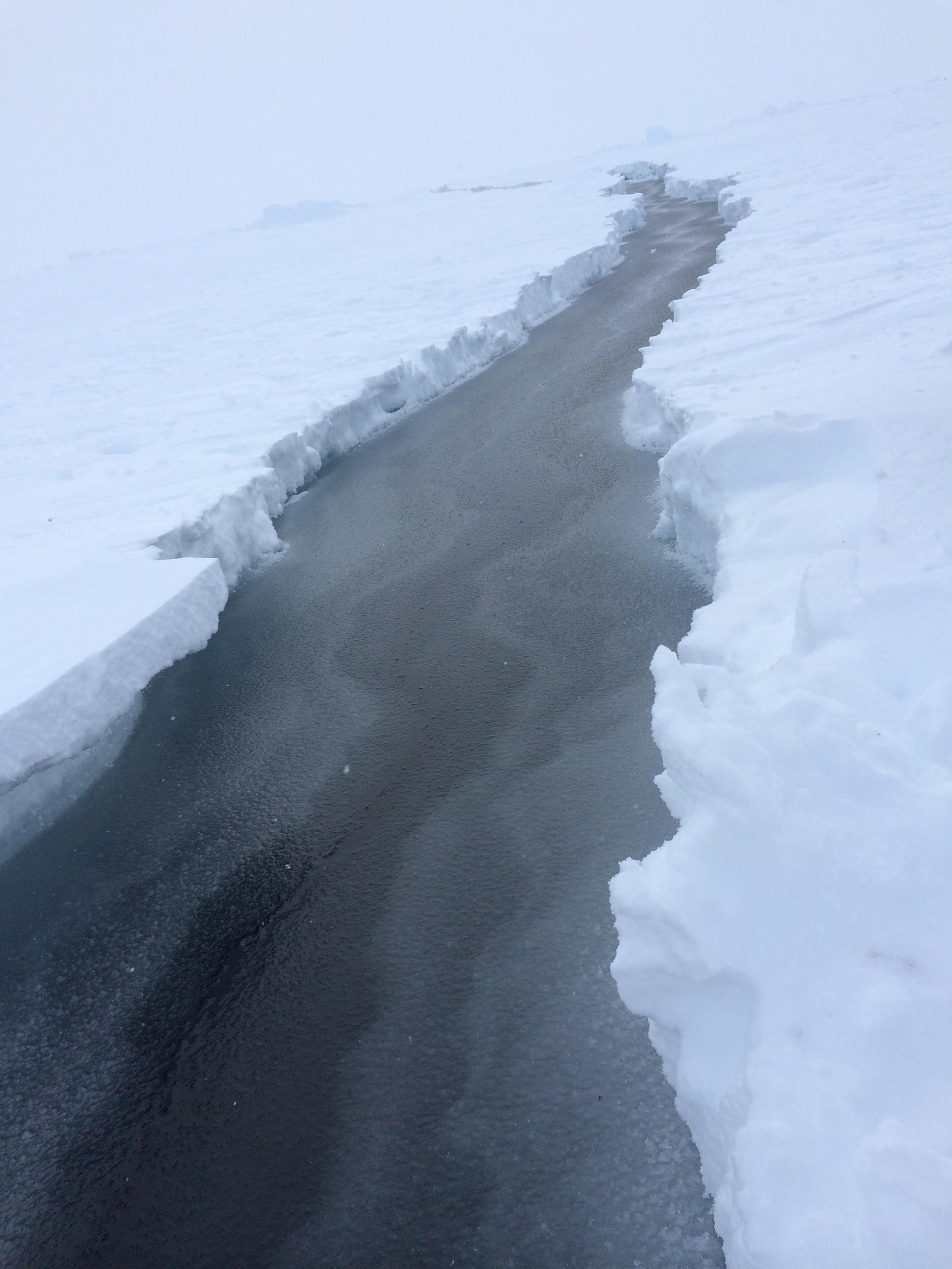 På grunn av sprekker i isen måtte løypen for løpet endres flere ganger. Lise følte seg trygg hele tiden og forteller at arrangørene hadde god kontroll.