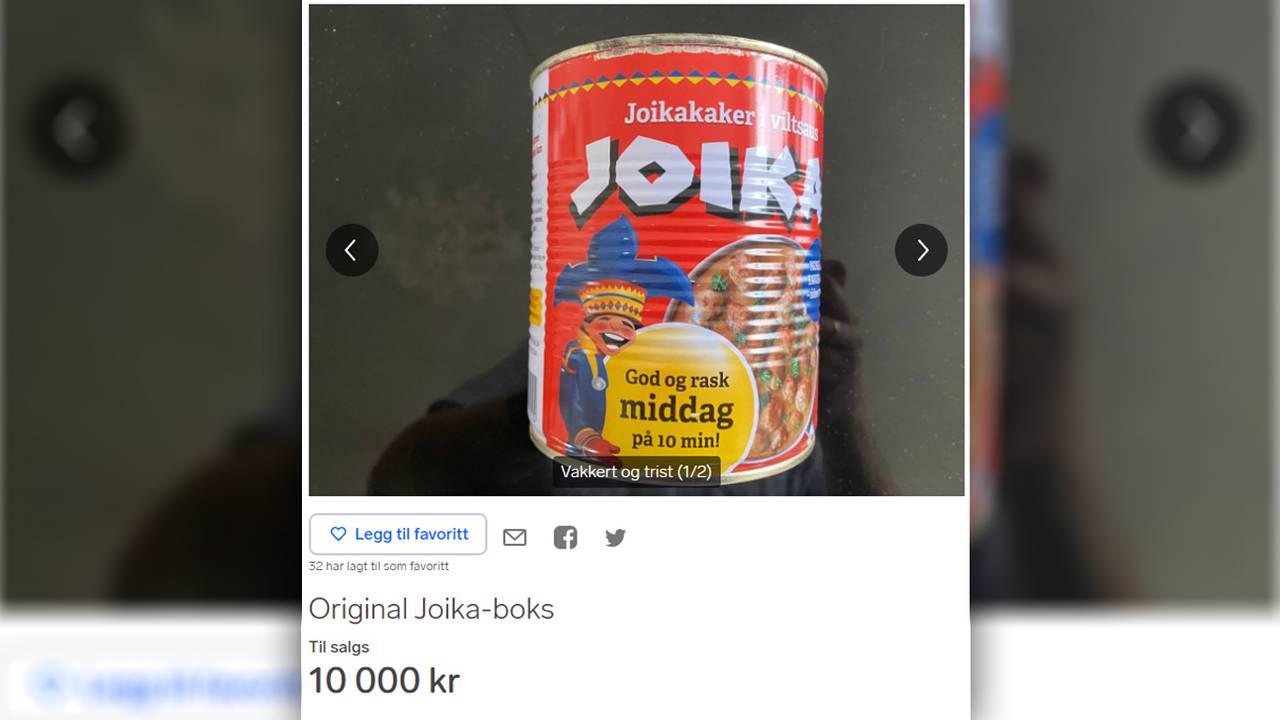 Joikaboks til salgs for 10.000 kroner