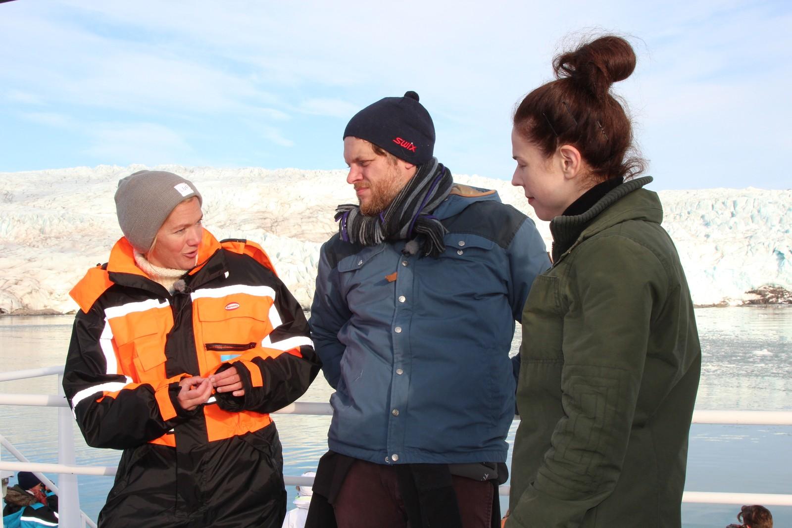 Lunde med NRK-Brenner og SVT-programleder Jessica Gedin.