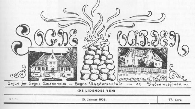 Sognevarden 15. januar 1938.