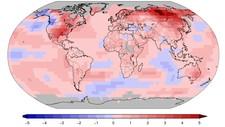 Global temperatur januar-mars 2017 - Foto: NOAA