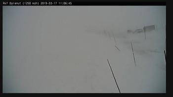 STENGT: Riksvei 7 over Hardangervidda ved Dyranut søndag formiddag.