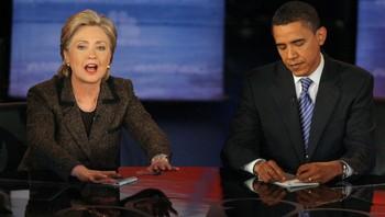 Clinton og Obama
