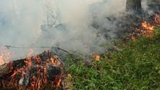 Brannfaren er ikke over selv om det har kommet noe nedbør.