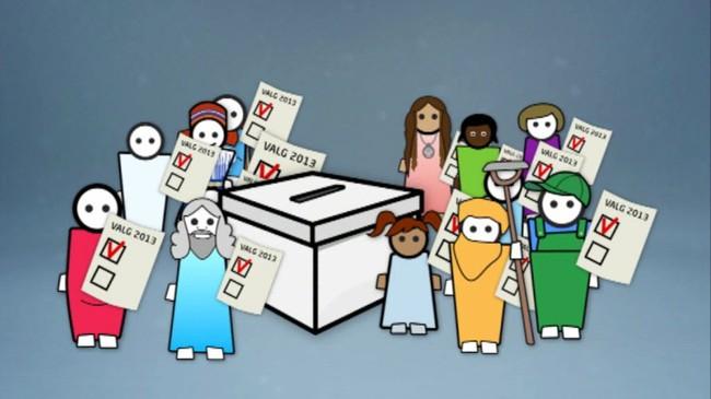 Norge er et demokrati. Da er det folket som velger hvem som skal styre landet.  (Ill. NRK)