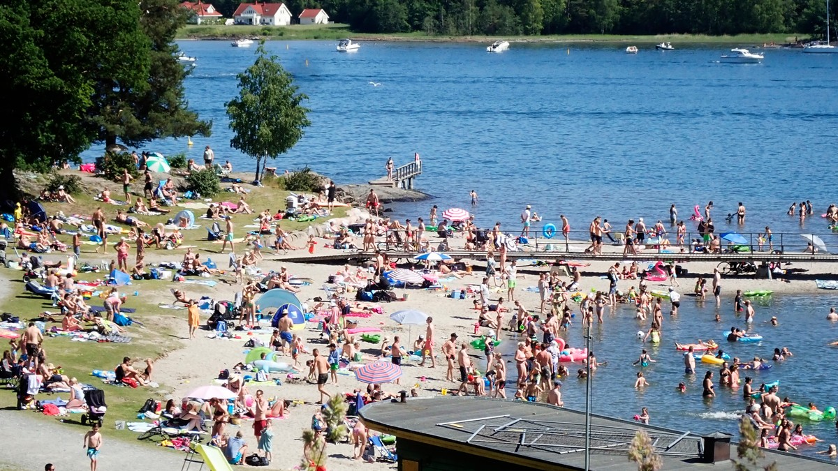 Hvalstrand i Asker tidligere i sommer