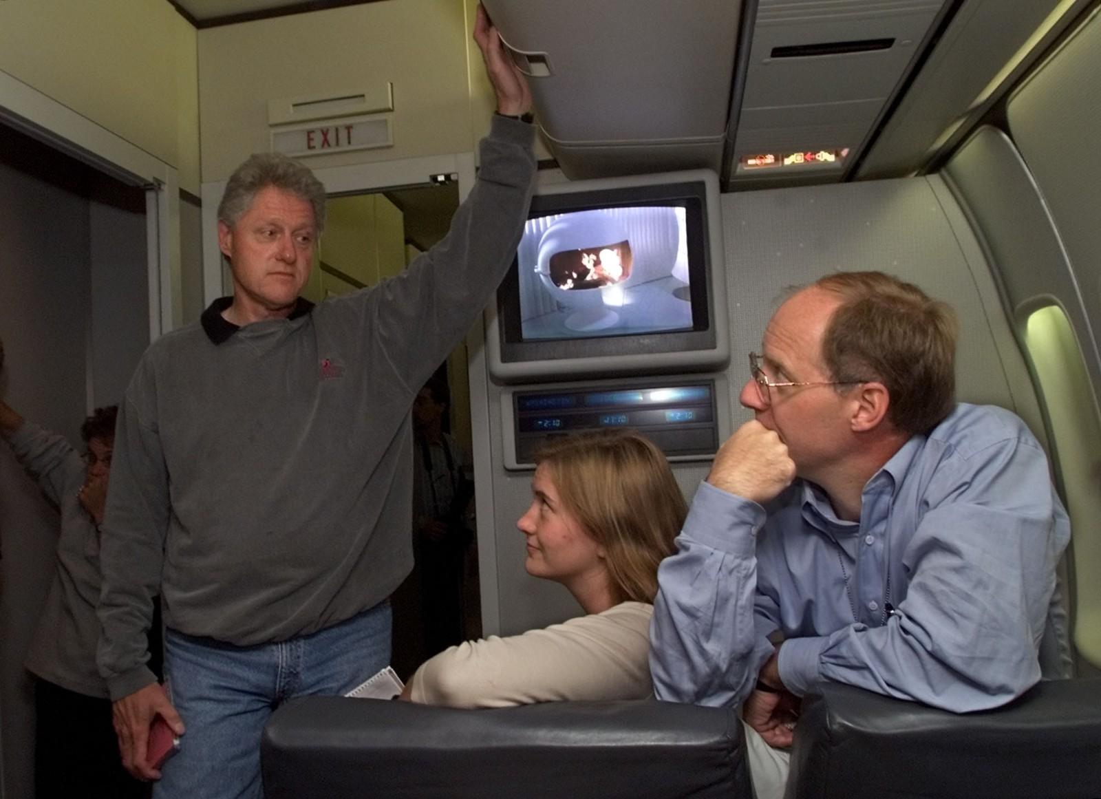 President Bill Clinton og hans stabsjef John Podesta.