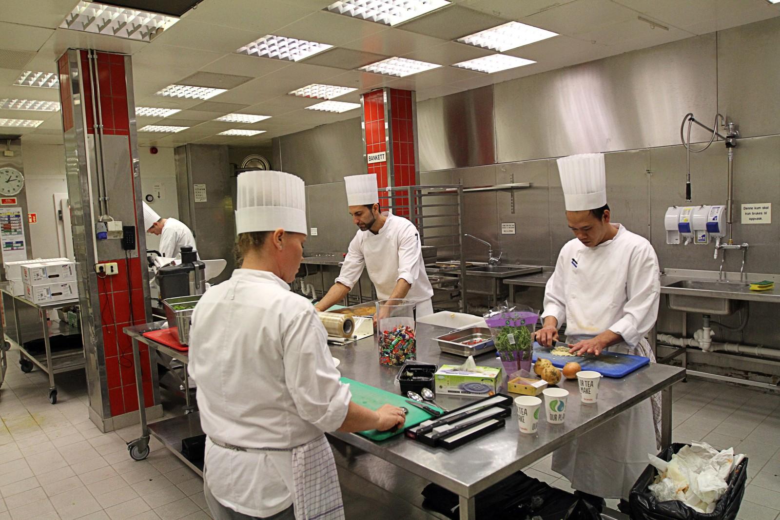 30 kokker er satt av til å jobbe med banketten onsdag.