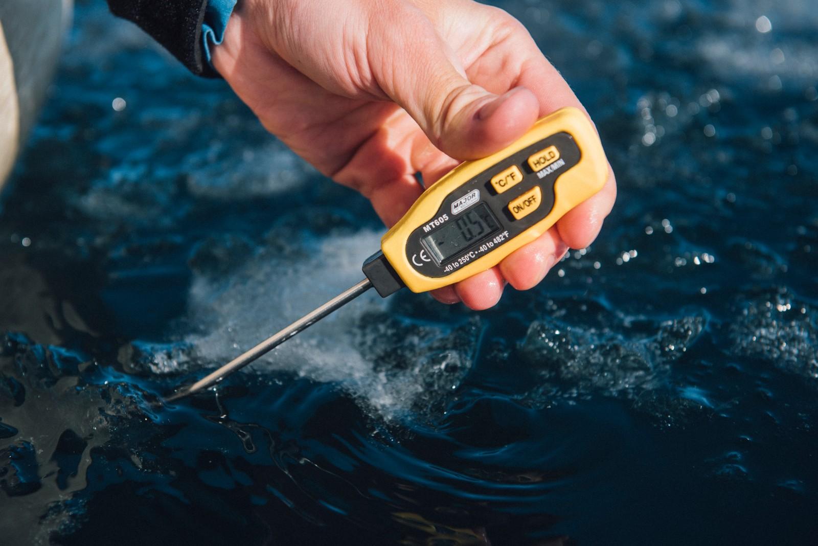 Det var ikke akkurat varmt i vannet da Lewis Pugh stupte uti.