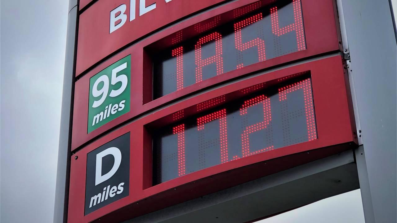 Pris på drivstoff i Grimstad