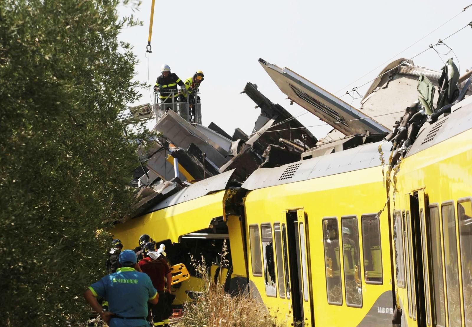 Togulykke ved Bari i Sør-Italia