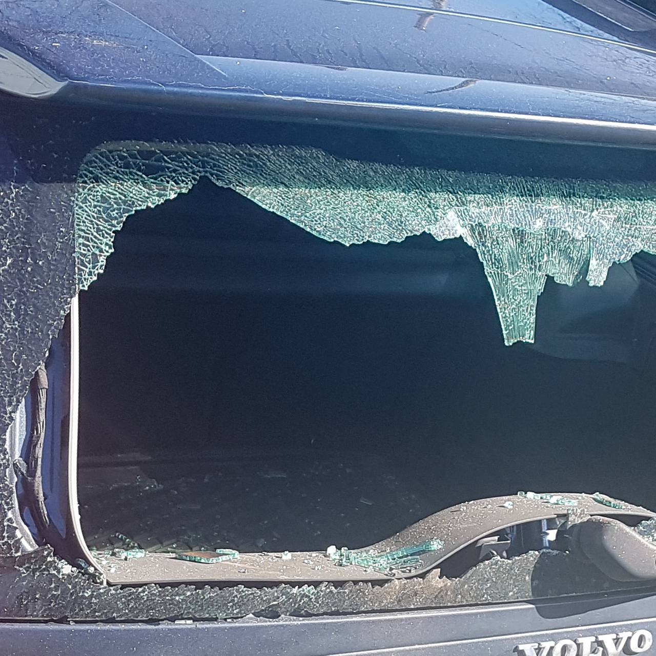 Knuste bilruter i nabolag i Porsgrun