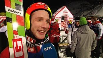 Video Hør hva Johan Remen Evensen hadde å si etter rekordhoppet