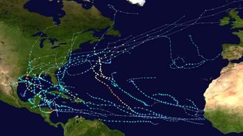 Rekordmange stormar i Atlanterhavet