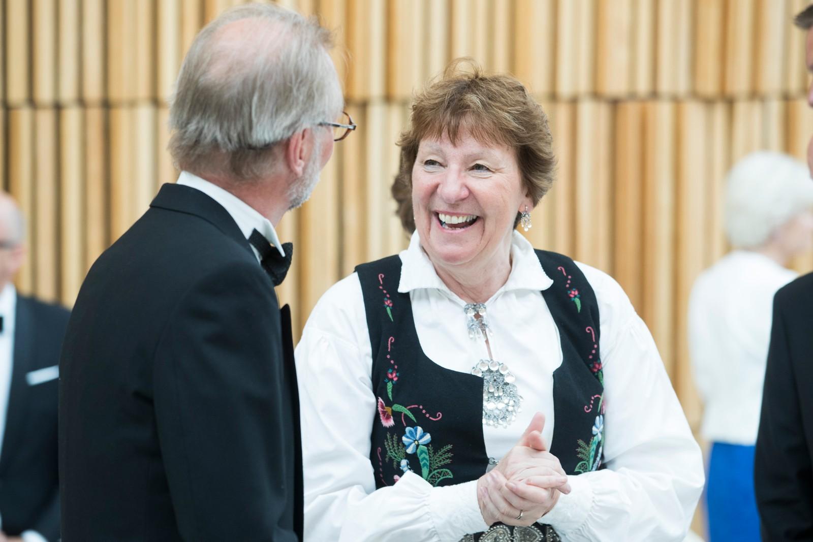 Oslo-ordfører Marianne Borgen før regjeringens festmiddag for kongeparet i Operaen i anledning kongeparets 80-årsfeiring.