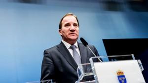 Nå · Stefan Löfven  presenterer nye regjeringsmedlemmer