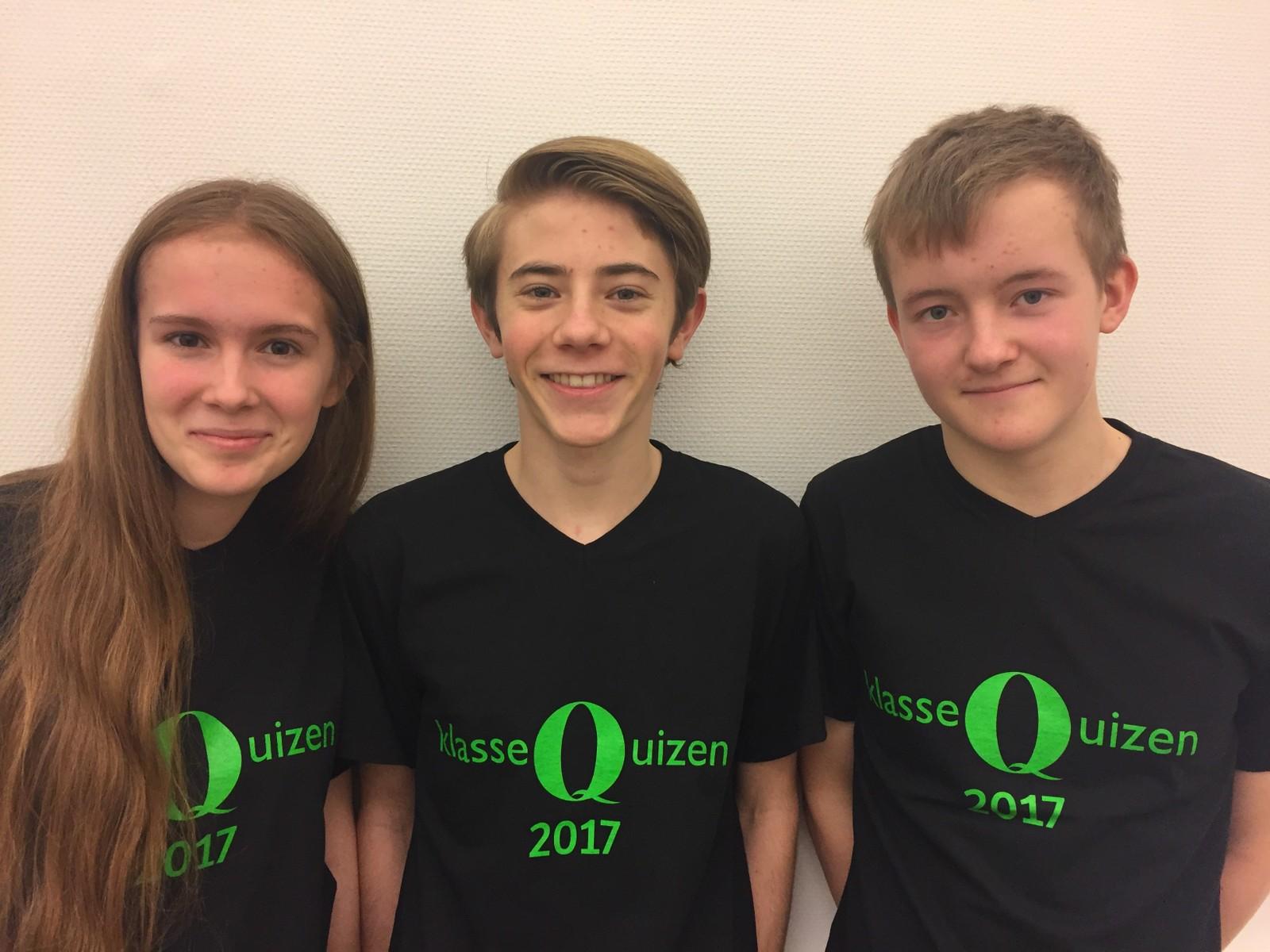 NAMSOS UNGDOMSSKOLE: Fra venstre: Jane Margreta Hagen, Dennis Andre Aune og Anders Høgden.