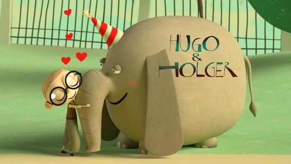 Hugo ønsker seg veldig en hund. Så treffer han babyelefanten Holger som viser seg å være alt han har lett etter. Dansk animasjonsfilm.