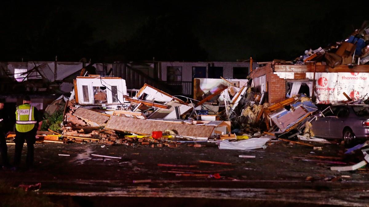 ØDELAGT MOTELL: «American Budget Value Inn» er helt ødelagt av tornadoen som slo til i El Reno i Oklahoma.