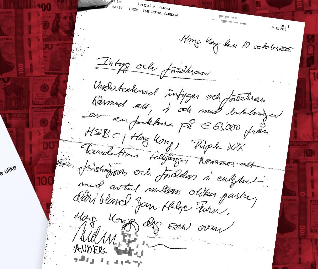 Håndskrevet faks