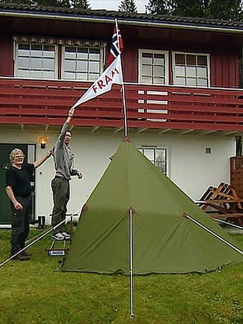 Kopi av teltet til polfarer Roald Amundsen