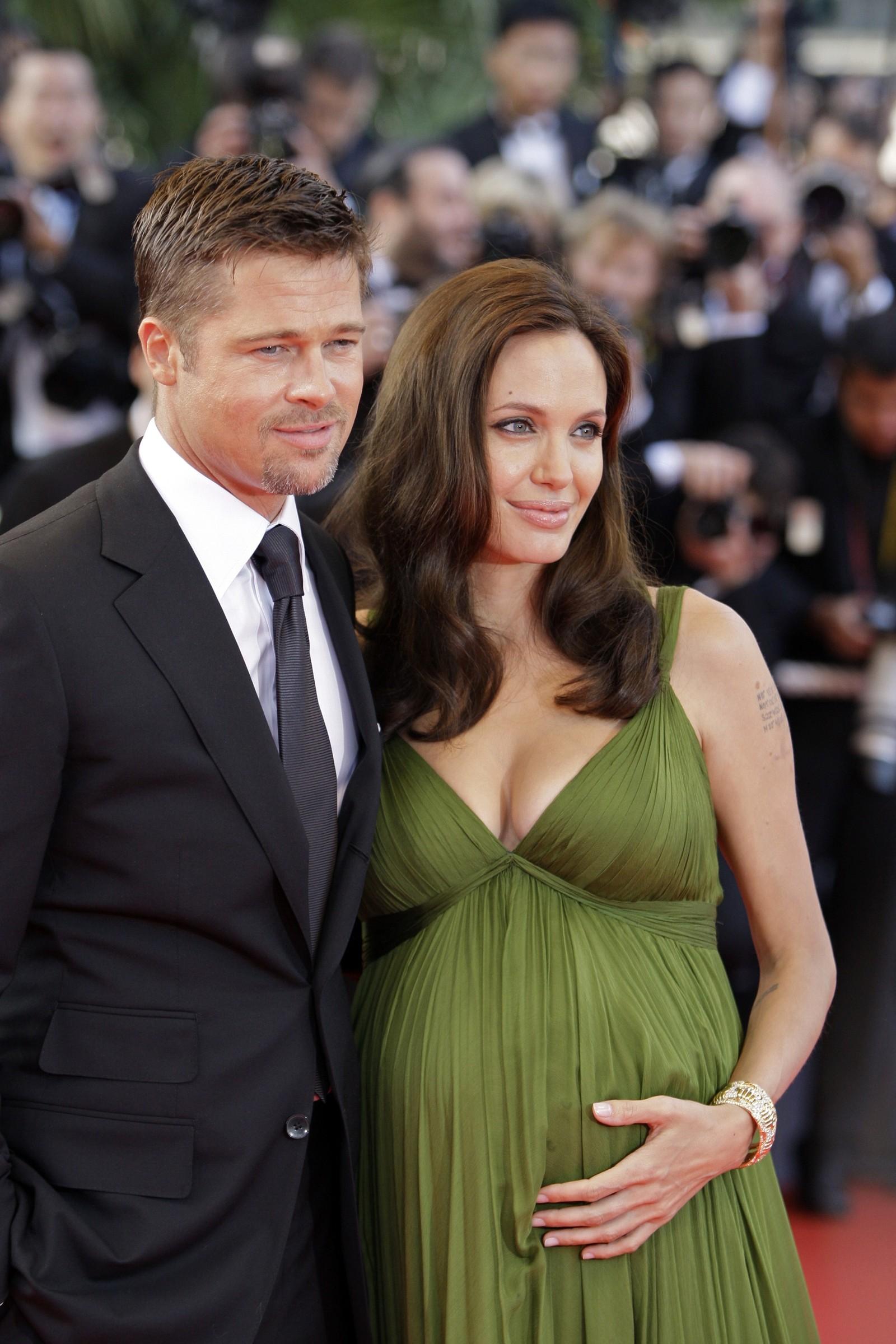 2008: Pitt og Jolie dukker opp på premieren til Kung Fu Panda.