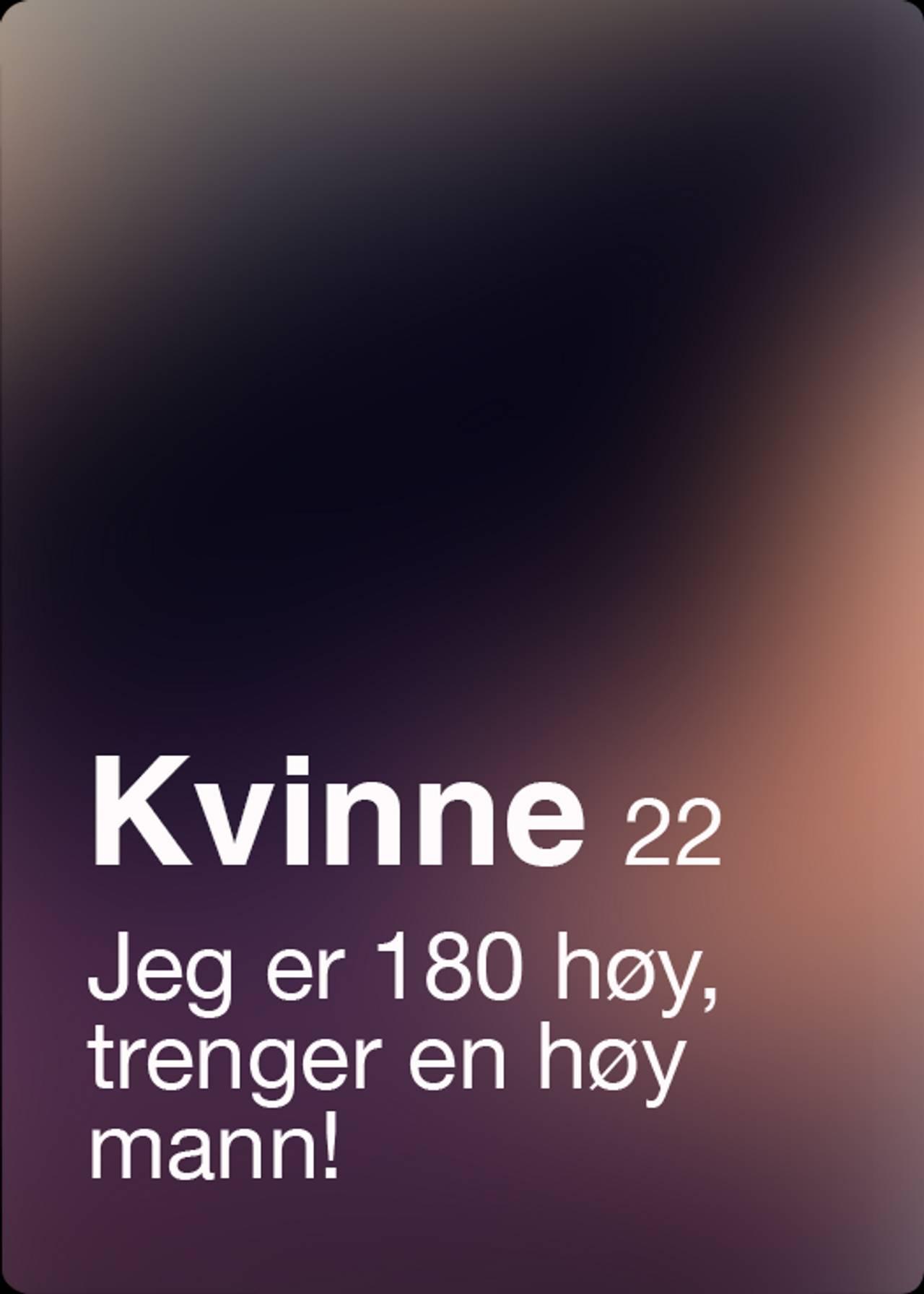 Tinder-profil med alderskrav -1
