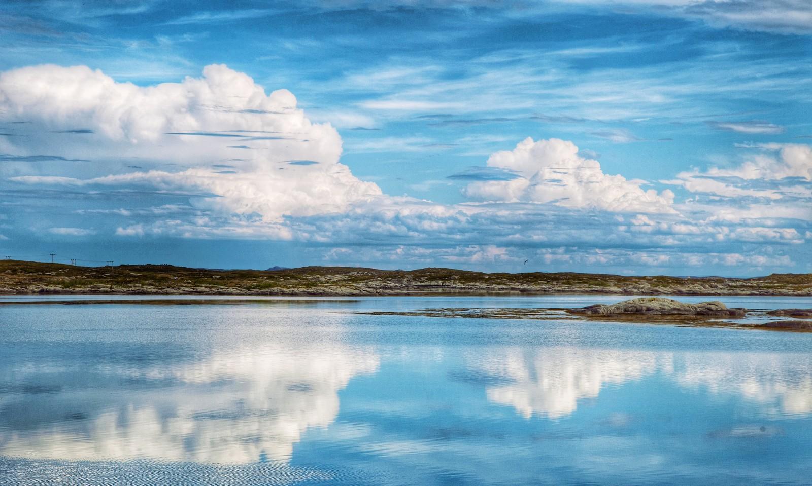 Blått speil, ved Sula