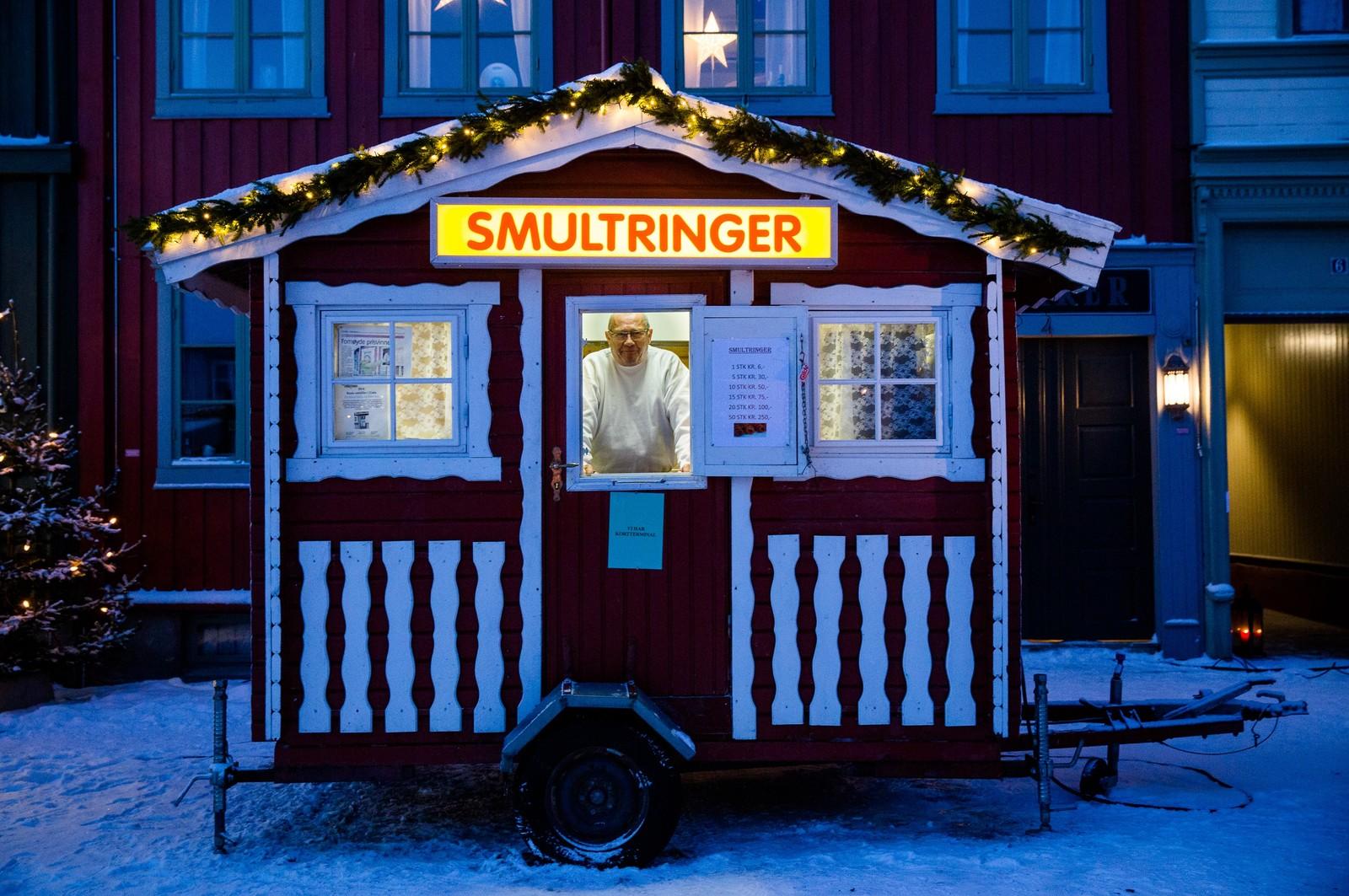 Den flyttbare smultringboden til Finsrud salg & service var en av markedets best besøkte.