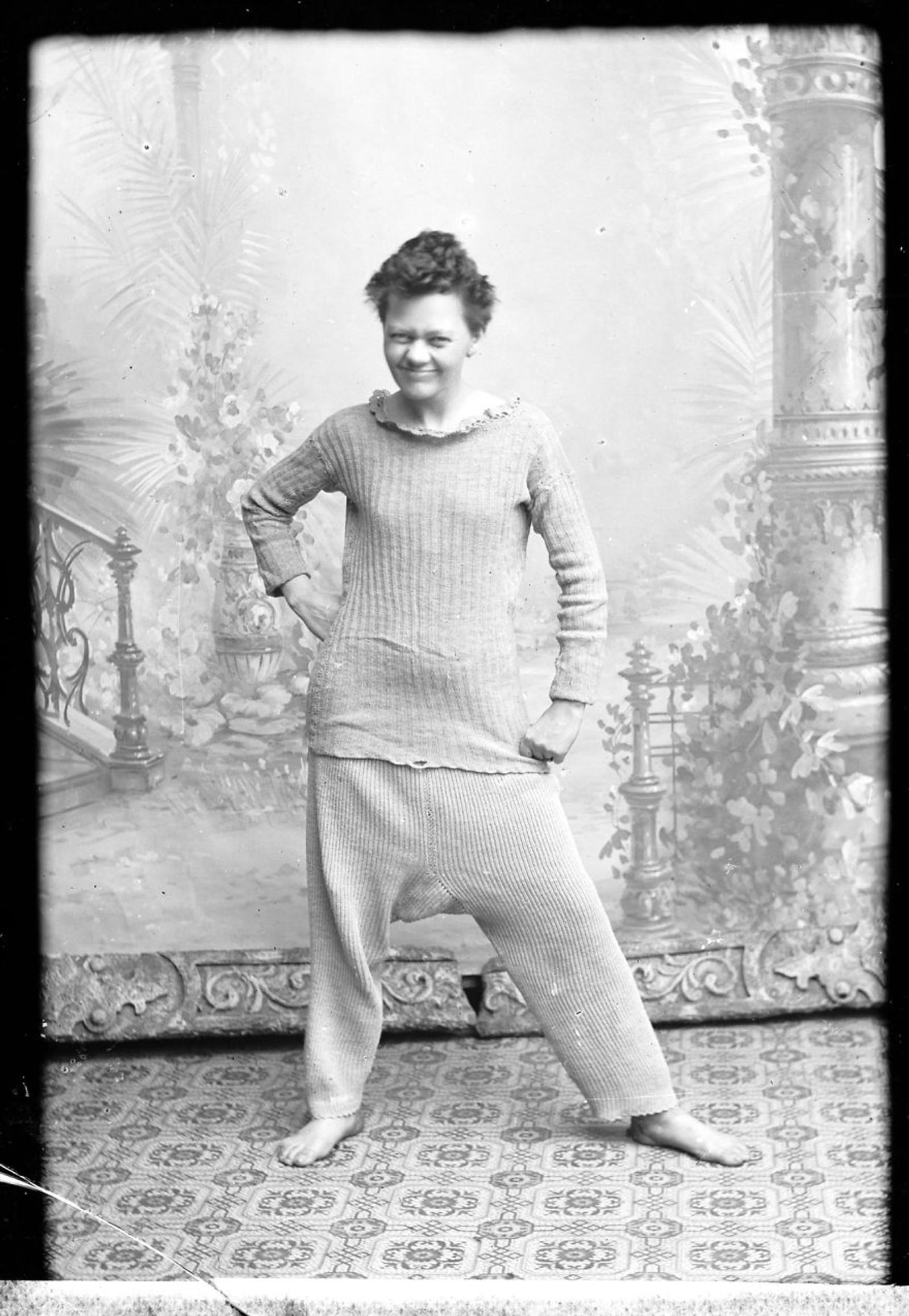 ULLUNDERTØY: Marie Høeg med ullundertøy.