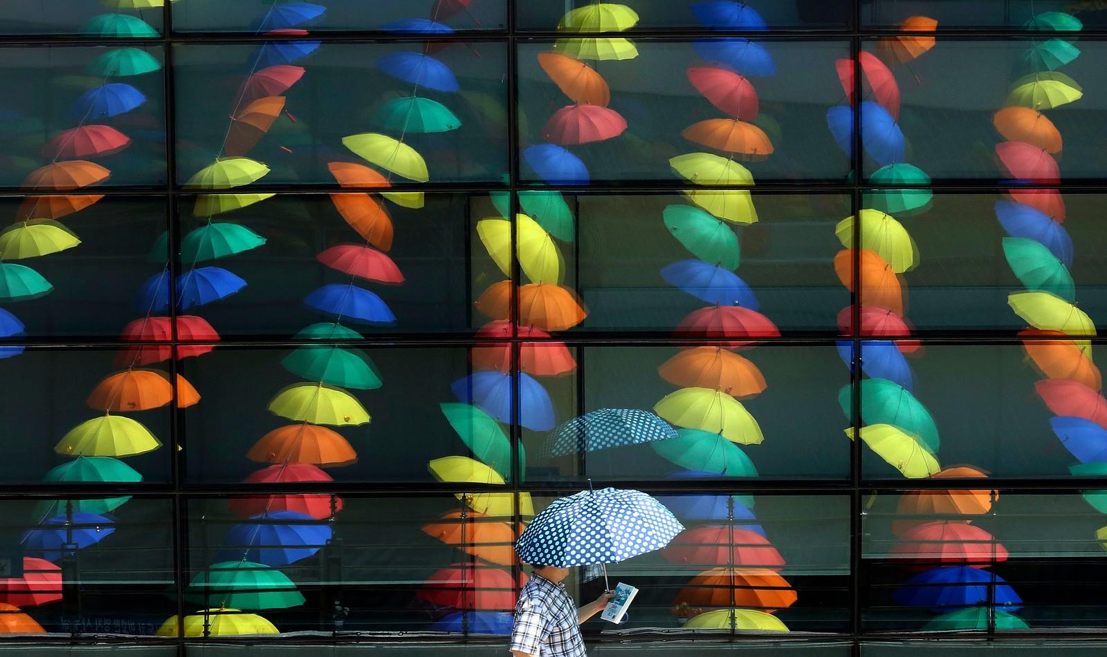 Paraplybonanza i Seoul i Sør-Korea.