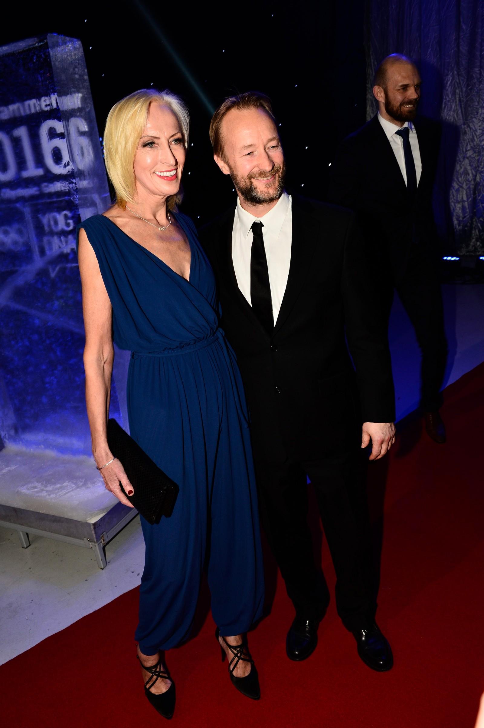 Karen Marie Ellefsen ankom sammen med Kjetil André Aamodt.