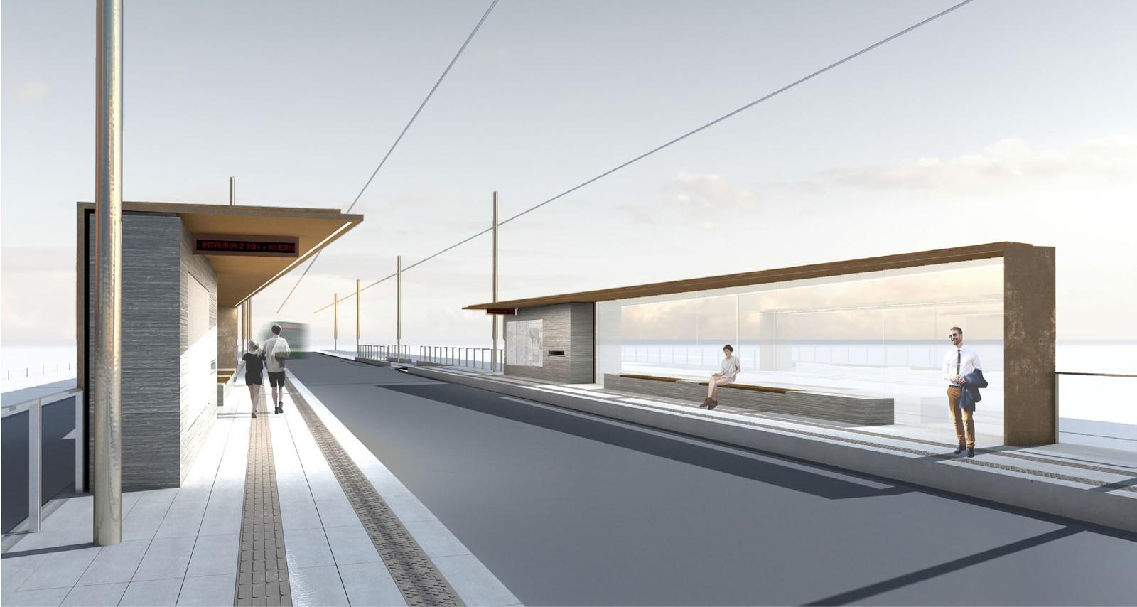 – Designet «Den røde tråden» er ikke fullt utviklet, det var hovedidéen vi var på jakt etter i holdeplasskonkurransen, sier Liz Helen Rosenkilde som er arkitekt i Statens vegvesen Region vest.