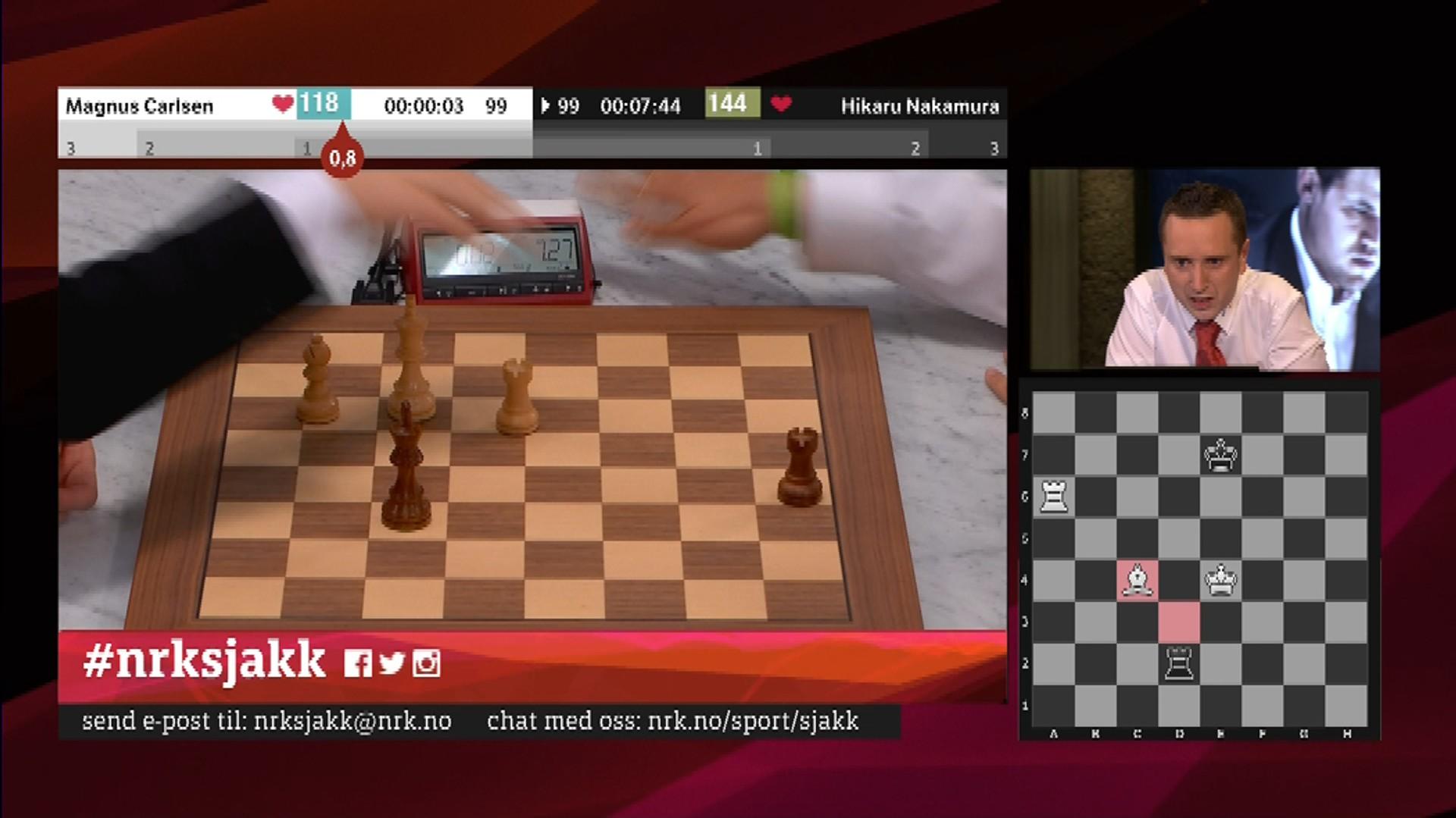 Carlsen Tapte Pa Tid Etter Ellevill Avslutning Nrk Sport Sportsnyheter Resultater Og Sendeplan