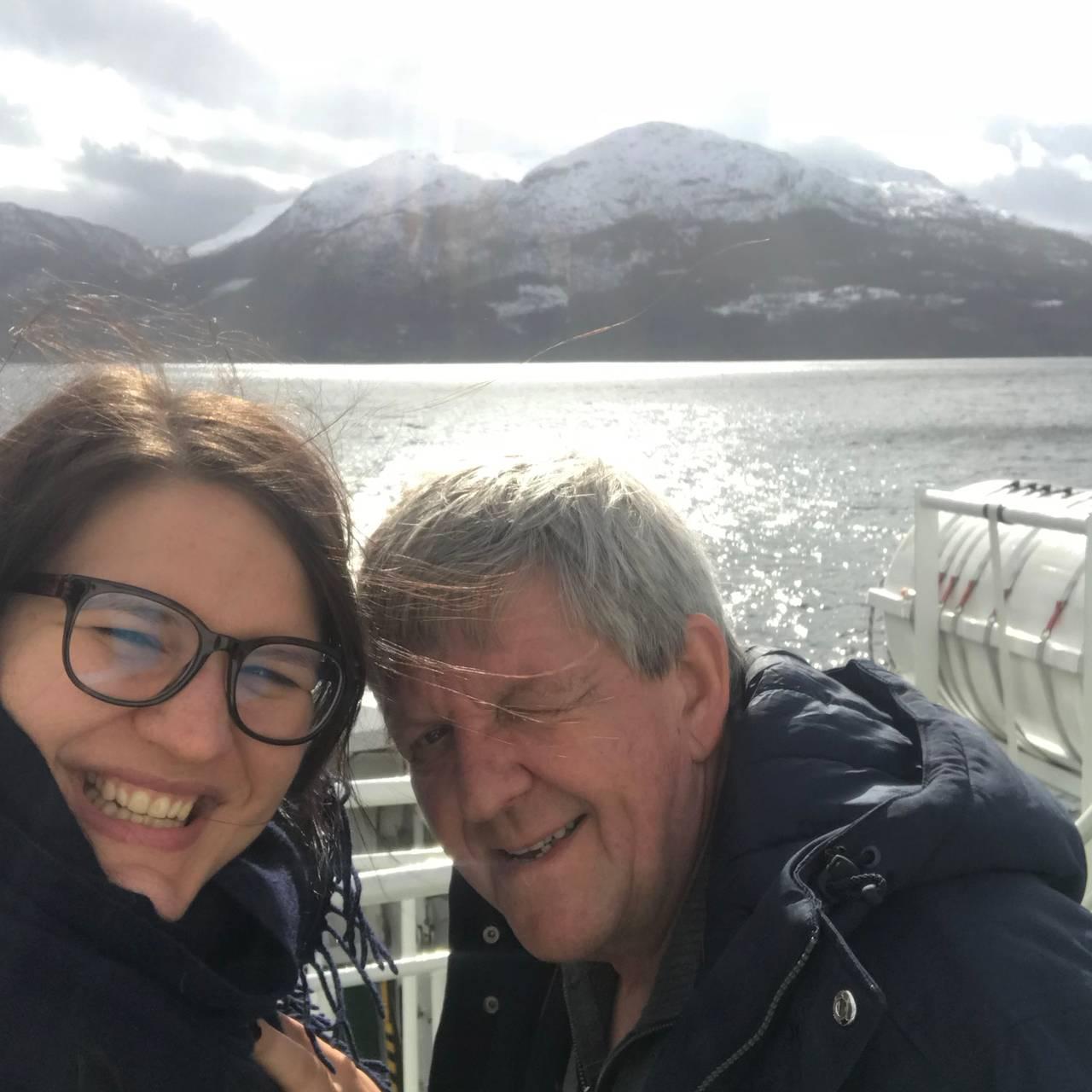 Lise Davidsen (sopran) og pappa Kjell