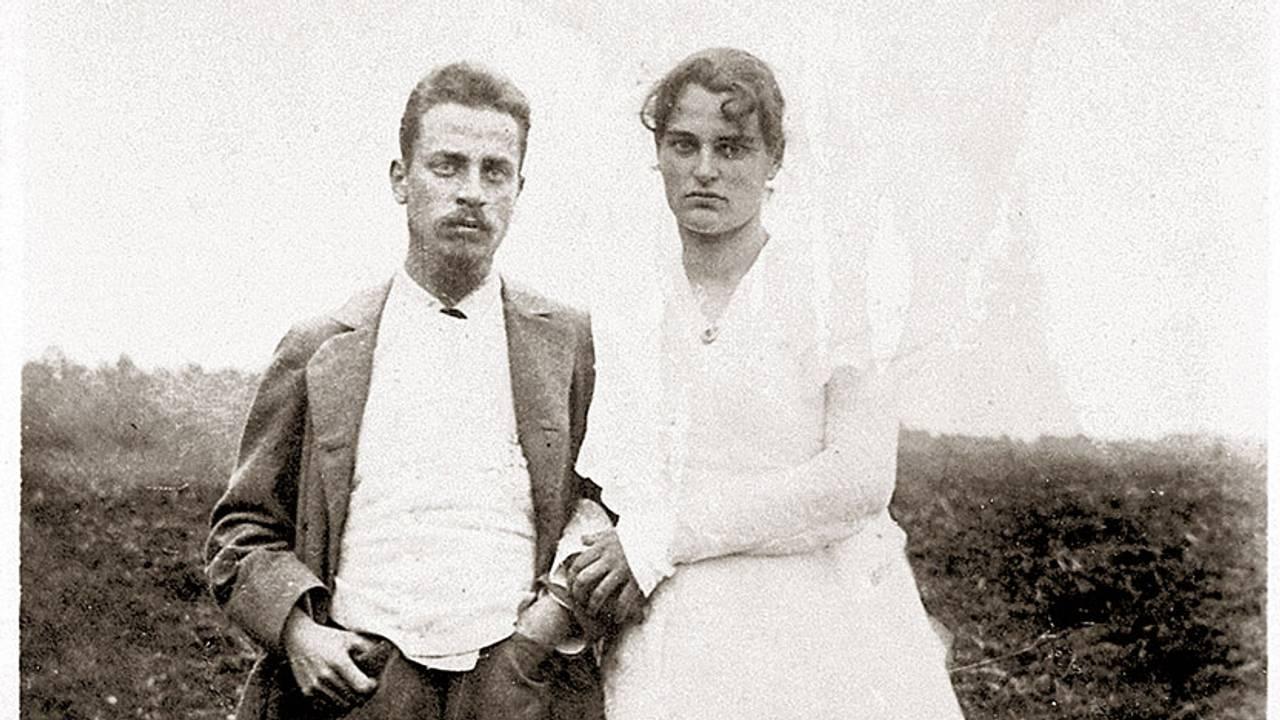 Poet og forfatter Rainer Maria Rilke sammen med Clara Rilke-Westhoff i 1901