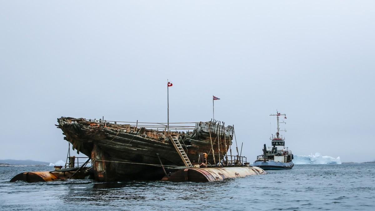 a831732a For hundre år siden la Roald Amundsen og polarskuta «Maud» ut på reise fra  Asker. Skipet nådde aldri Nordpolen. Nå vender skroget av polarskipet hjem  til ...