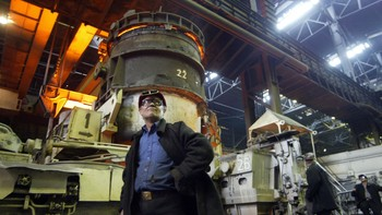 Mariupol jern- og stålfabrikk i Ukraina