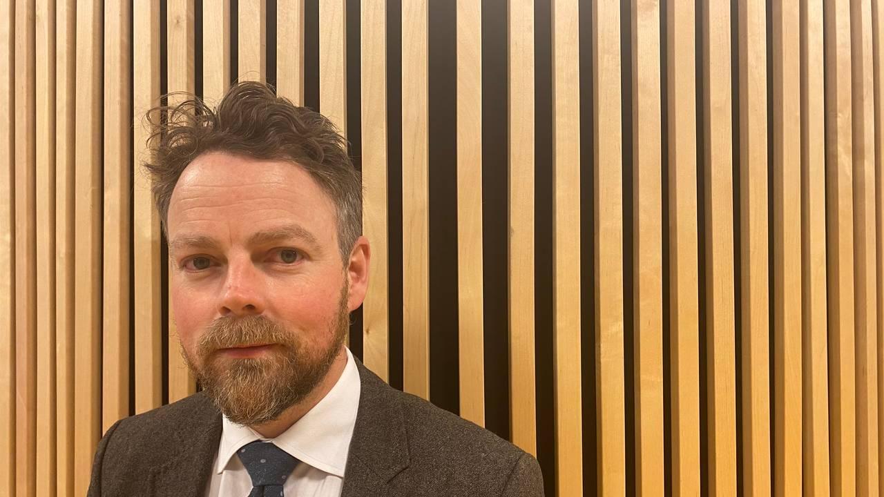 Arbeids- og sosialminister Torbjørn Røe Isaksen (H) i NRKs lokaler på Marienlyst.