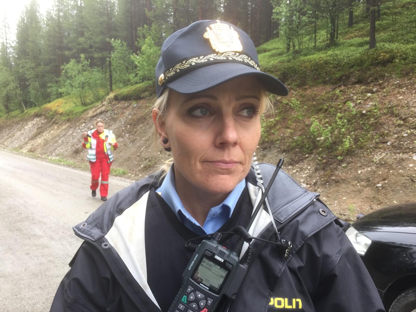 Innsatsleder i politiet, Nina Aleksandersen Farak.